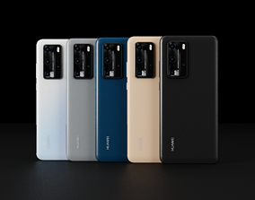 Huawei P40 Pro In All Official Colors 3D asset
