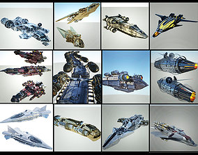 Space Ship Collection - 12 Ships 3D