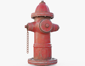 3D model VR / AR ready Red Fire Hydrant