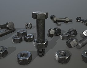 Bolts 3D model realtime bolts