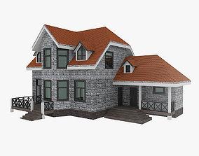 3D model Woodframe House