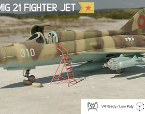 MiG 21 - Rigged and Animated - with Interior - M1 3D asset