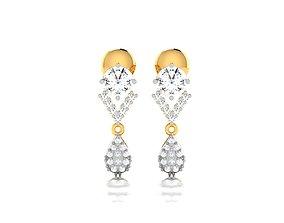 drops radiant Women earrings 3dm render detail
