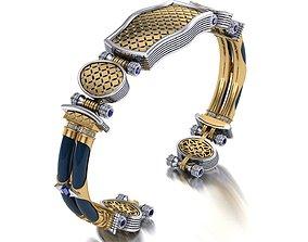 jewelry gold bracelet unisex exclusive 3D print model