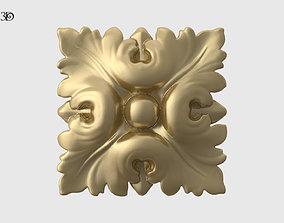 3D print model Square Rosette