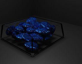 3D Blue Gems