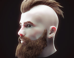 Head Hair Kit Low Poly 1 3D asset