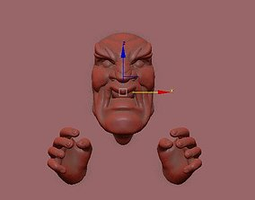 3d print wall sculpture angry face printable