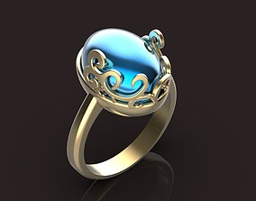 3D printable model oval ring rings