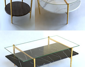 3D Mid-Century Coffee Tables