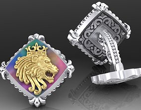 Zodiac signs Cufflinks Lion 3D printable model