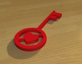 3D printable model Heart key