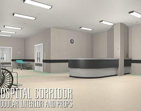 3D asset Hospital corridor - modular interior and props