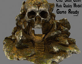 3D model low-poly Skull Cave other