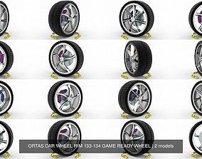 ORTAS CAR WHEEL RIM 133-134 GAME READY WHEEL 3D model