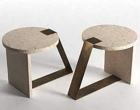 3D model round Anello Side Table