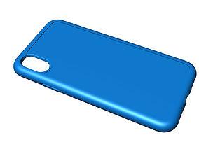 Iphone X blue case 3D print model