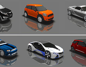 Extreme LowPoly Cars 3D asset