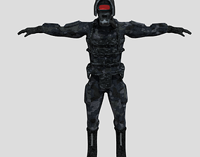 fantasy-and-fictional-creature 3D model game-ready Soldier