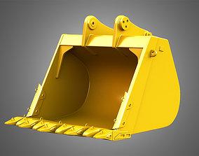 Excavator Bucket - 6015B Hydraulic Mining Shovel 3D