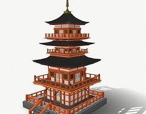 3D PBR Japanese Temple