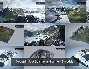 Mountain Pack Summer and Winter 3D model