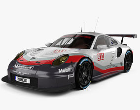 Porsche 911 Carrera 991 RSR 2017 3D