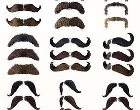 3D model Mustache Low Poly Pack