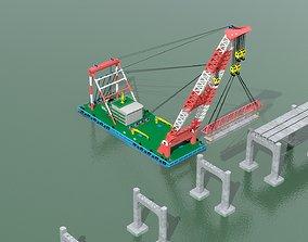 3D Floating crane