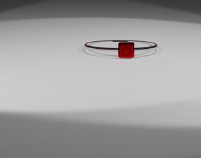 metallic metal ring 3D
