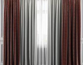 Curtain Set 318 window 3D model
