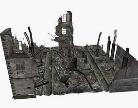 ruined city 3D model