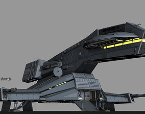 Herald class shuttle 3D animated