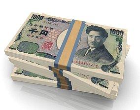 low-poly Yen Stack 3D model