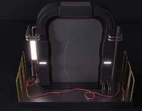 Scifi Door 3D model low-poly
