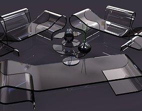 3D Transparent aluminum furniture