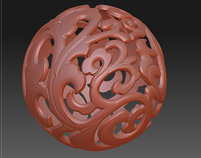 3D drawing of hollow ball in STL hollow bead