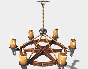 Stylized Chandelier 3D model