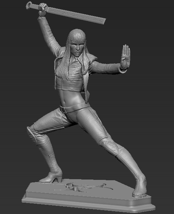 Ultraviolet commission statue