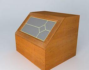 black kitchen Kitchen Red Fair Cabinet 3D model