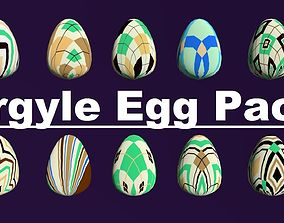 Argyle Eggs Pack Collect Monster Hatching Theme 3D asset