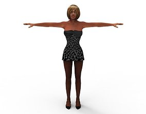 3D model rigged Naomi Lunsei Female Women 45 Years FBX