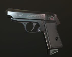 Walther PPK 3D model
