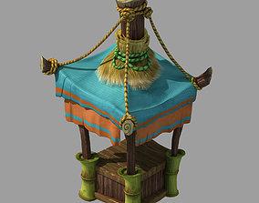 Dynasty City - Empty shelves 3D model