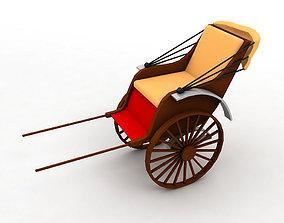 Walking Rickshaw 3D asset