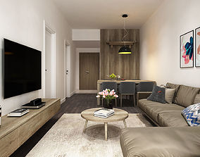 3D model residential-space Apartment Livingroom Simple