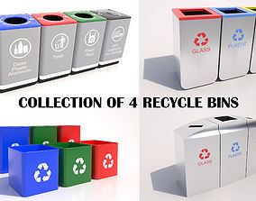 3D Recycle Bin Collection