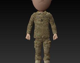 1SG Little Top in beret 3D printable model