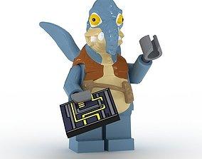 3D model LEGO Minfigure Watto