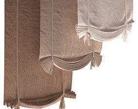 Roman blinds set 15 3D model